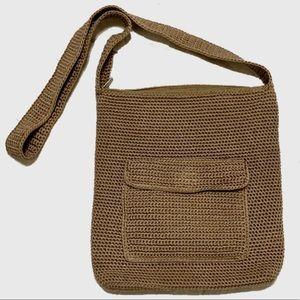 The Sak Tan Crochet Crossbody Bag